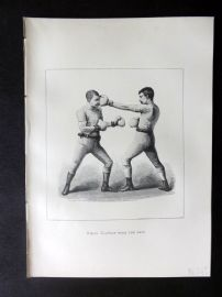 Badminton Library 1889 Boxing Print. Stop with the Lft